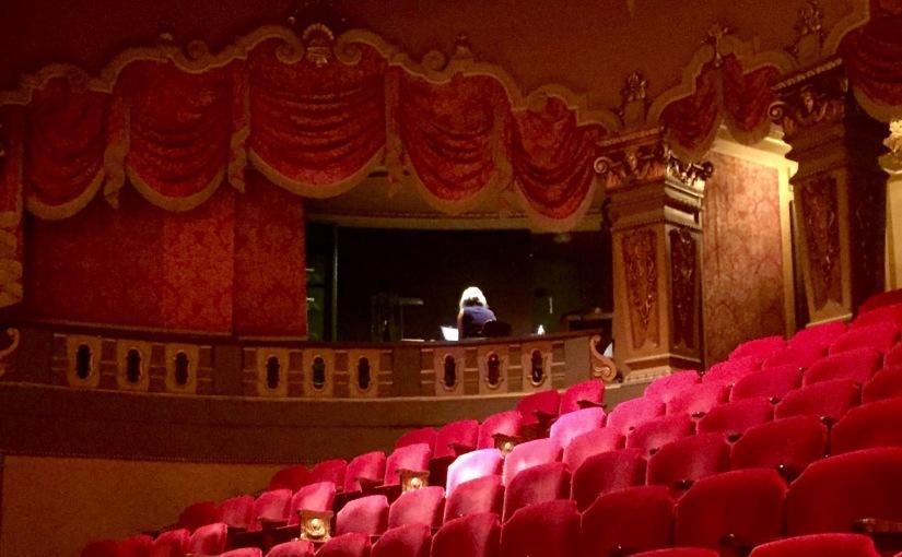 Color photograph of interior of a theatre.